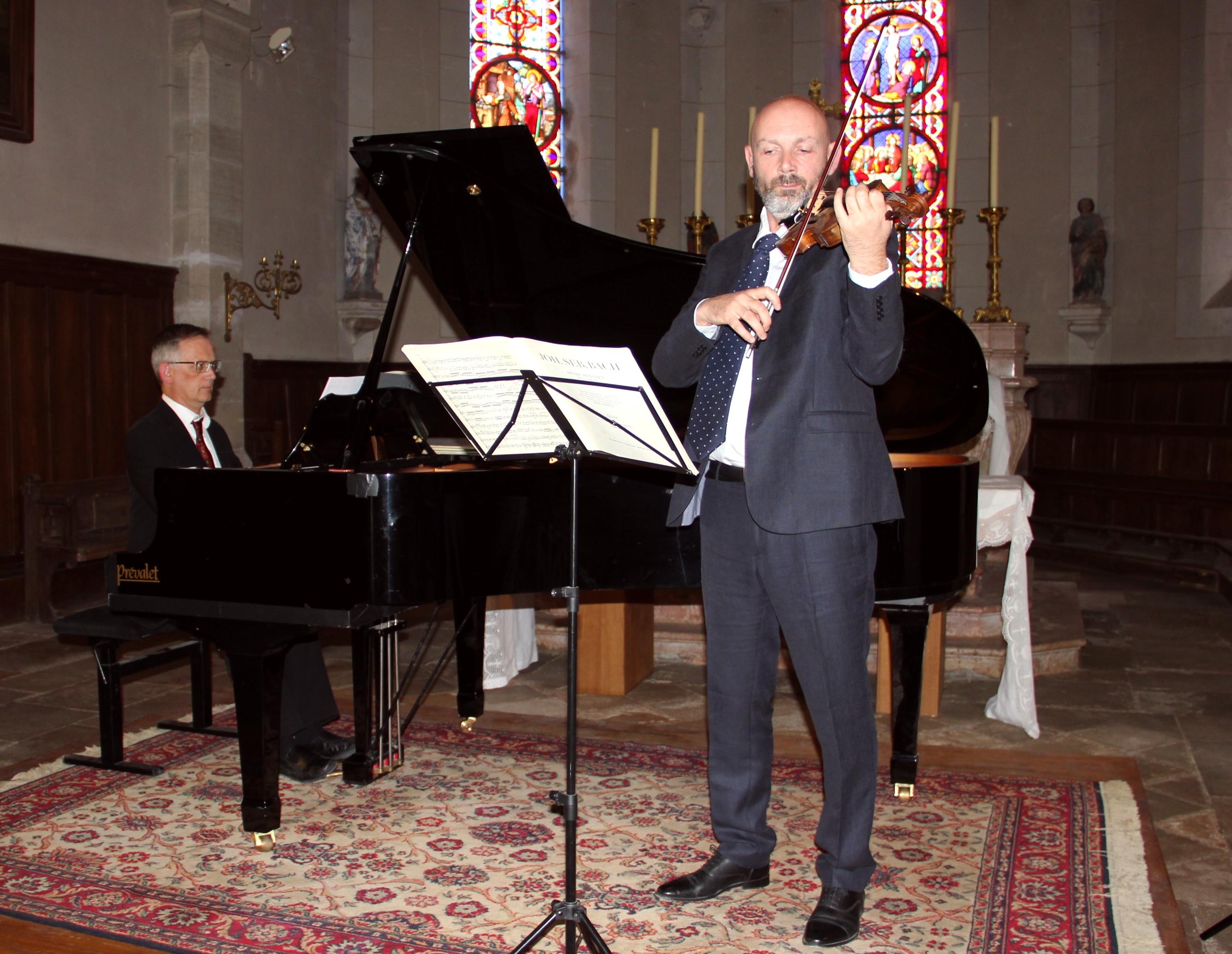 Thierry Sibaud, piano et Fabien Roussel, violon
