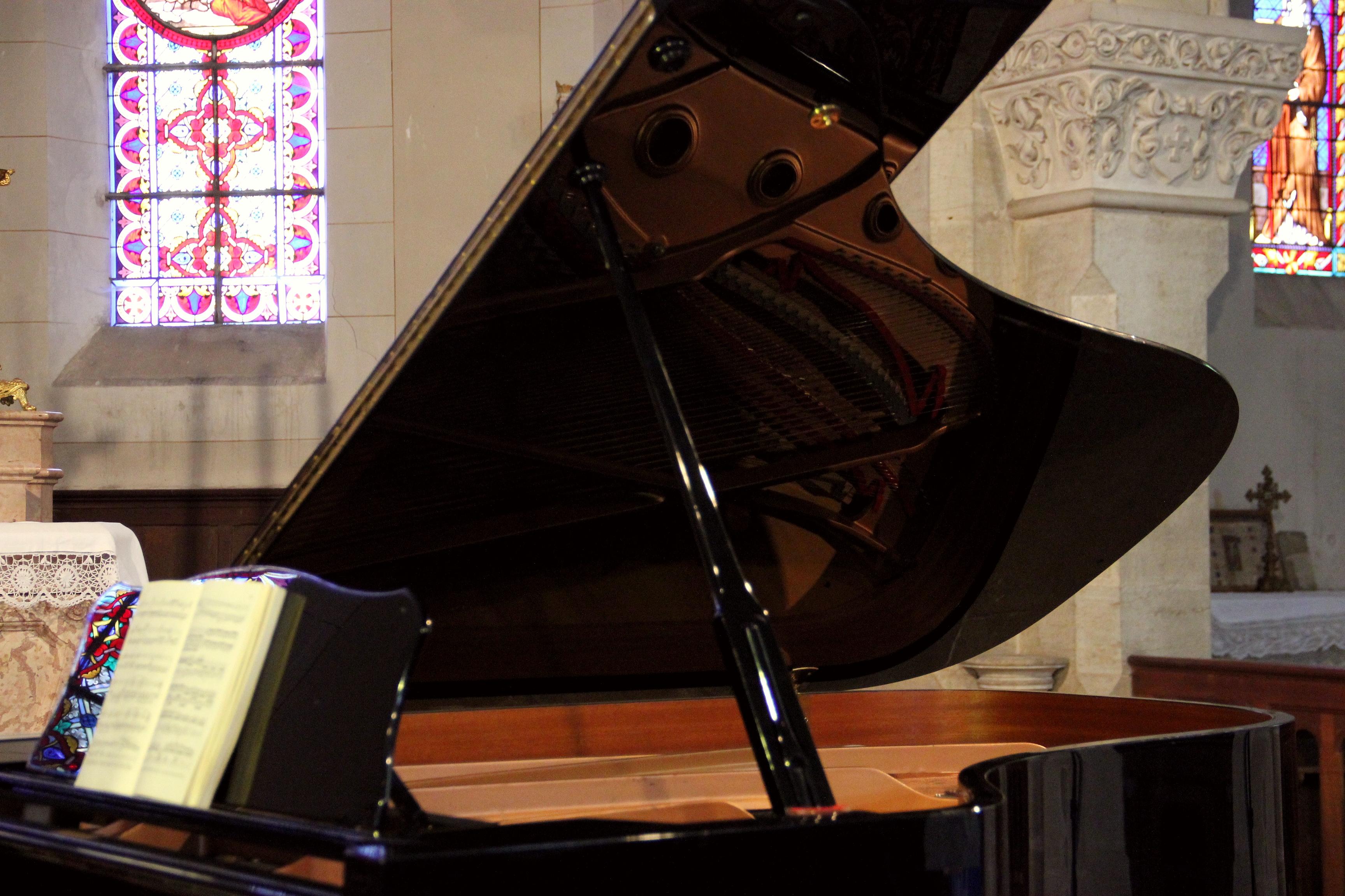 Le demi-queue Yamaha du concert (piano Bruno Prévalet)