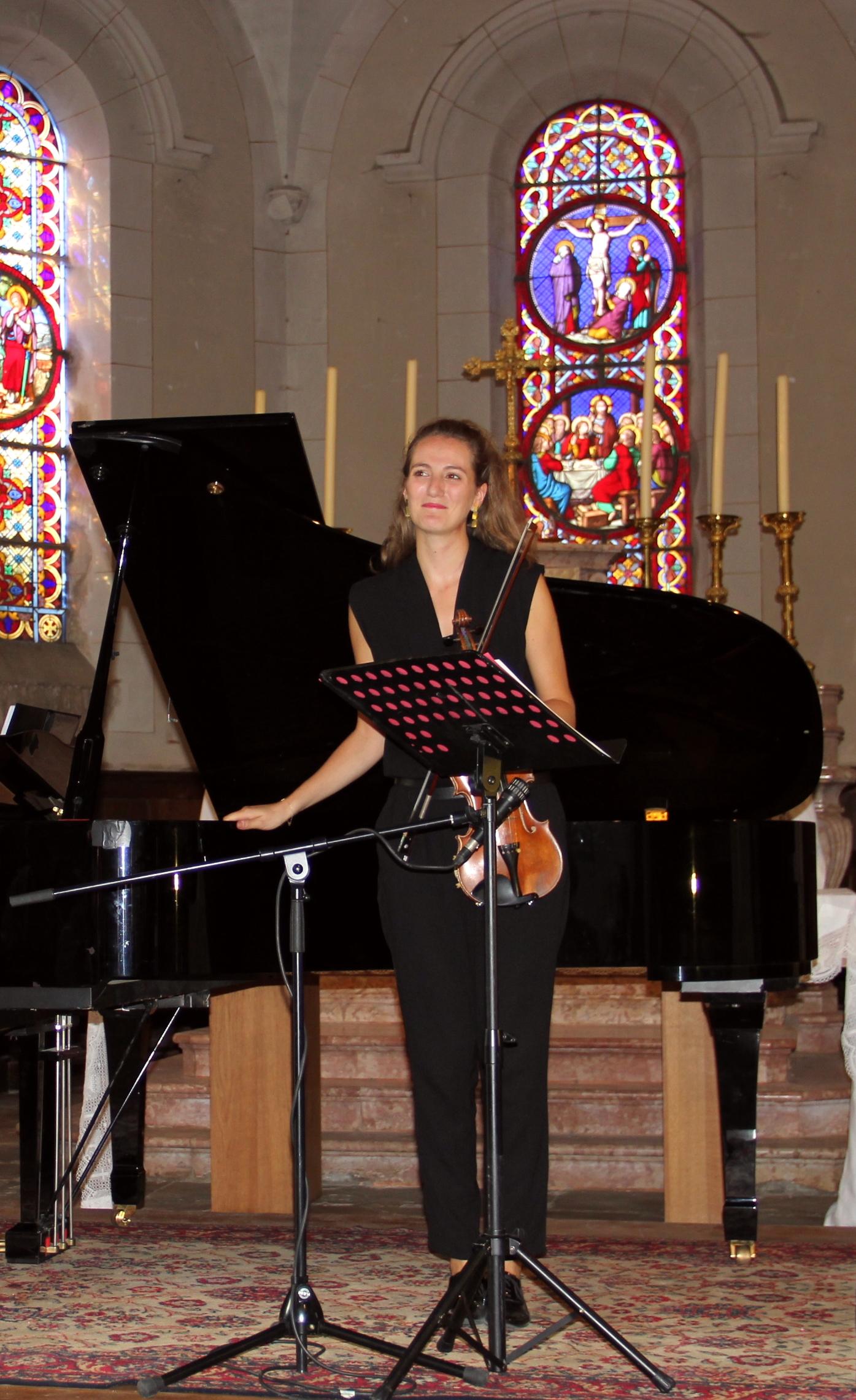 Les soeurs Graziano, Agnès, piano et Marie, violon, en concert
