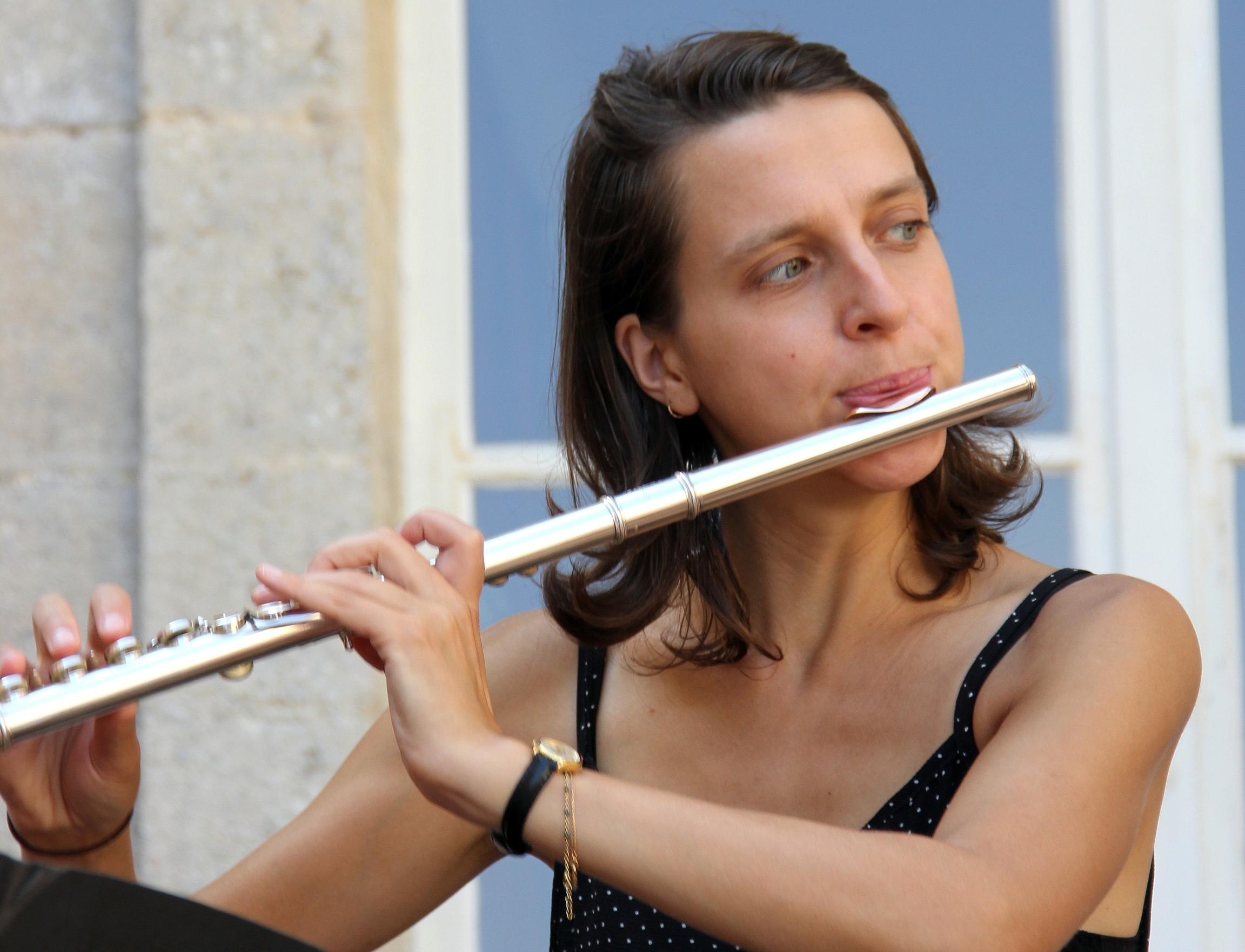Alice Szymanski, flûtiste du Trio Zerline