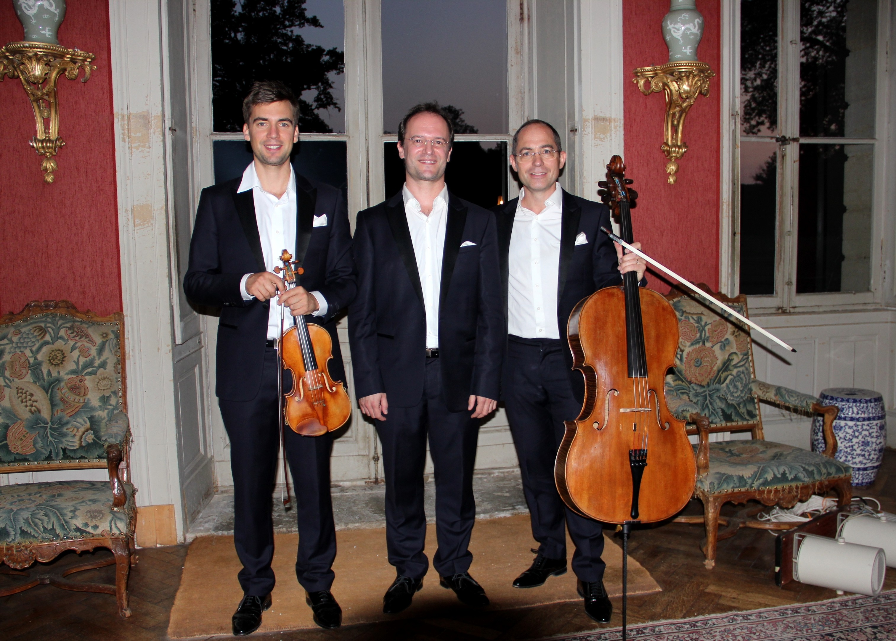 Le Trio Chausson dans un salon du château