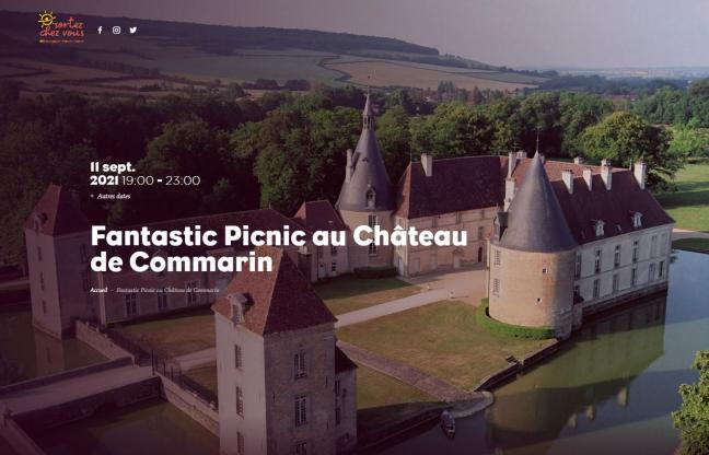 Fantastic picnic au chateau de commarin
