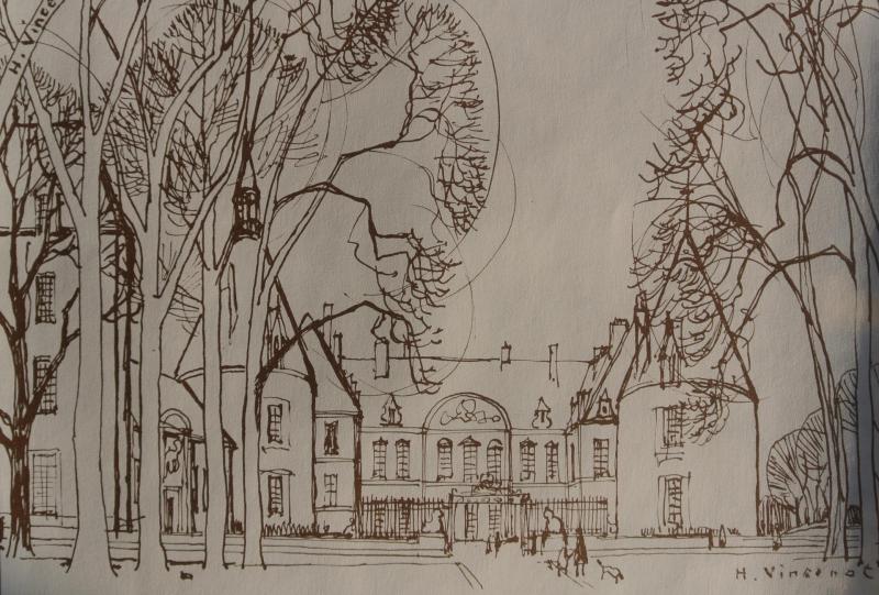 Le chateau de commarin dessine par henri vincenot