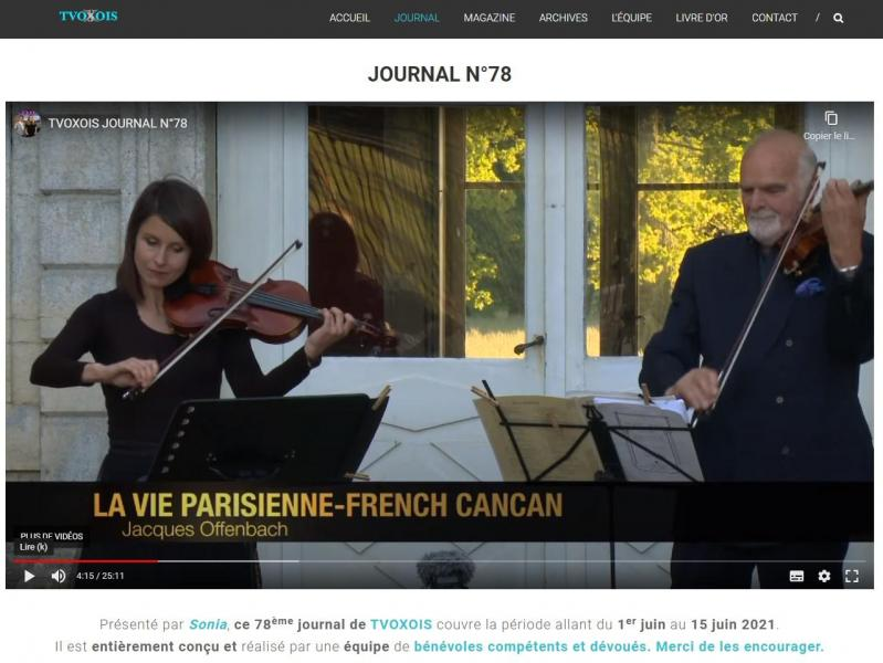 Tvo journal n 78 concert p fontanarosa